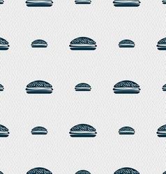 Burger hamburger icon sign seamless pattern with vector