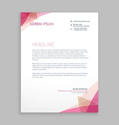 Creative letterhead stationary vector