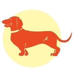 Dachshund dog vector