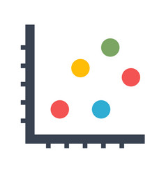 Dot chart icon vector