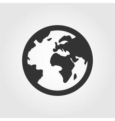 Earth globe icon flat design vector