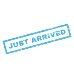Just arrived rubber stamp vector