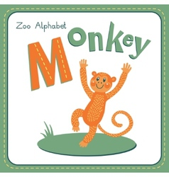 Letter M - Monkey vector image