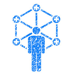 Medical network administrator grunge icon vector