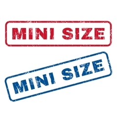Mini size rubber stamps vector