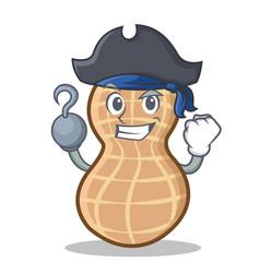 Pirate peanut character cartoon style vector