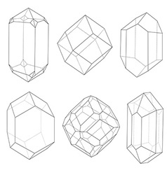 Precious stones outlines vector