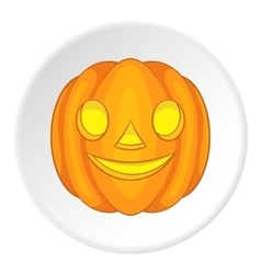 Pumpkin lantern icon cartoon style vector