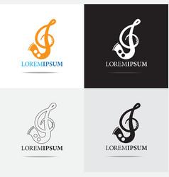 Saxophone logo vector