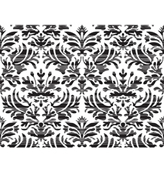 Seamless abstract floral damask background striped vector