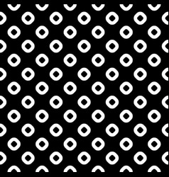 Seamless pattern black white rings vector