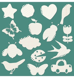 Set of Paper Tags vector image vector image