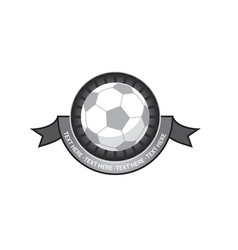 soccer emblem retro vector image vector image