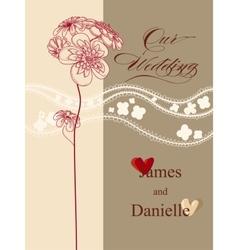 Stylish wedding invitation card file vector image vector image