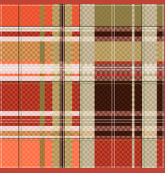 Tartan seamless texture mainly in light brown hues vector