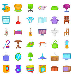 washing icons set cartoon style vector image vector image