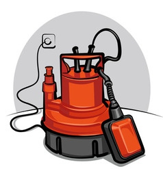 water pump appliance vector image