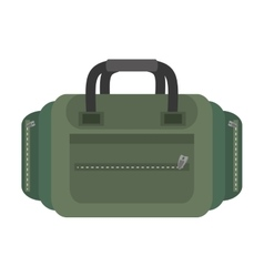 Packback travel bag tourist green vector