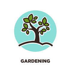 Gardening as leisure activity and useful hobby vector