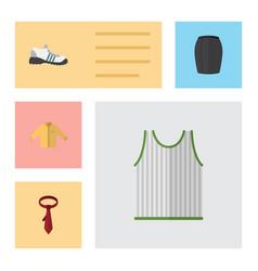flat garment set of singlet cravat banyan and vector image