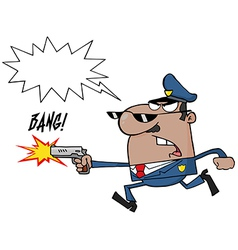 Cartoon police officer vector