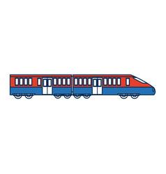 Fast modern high speed train public transport of vector