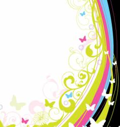 floral background element vector image