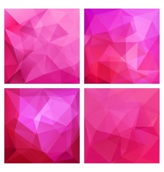 Set of four poly backgrounds for your design vector