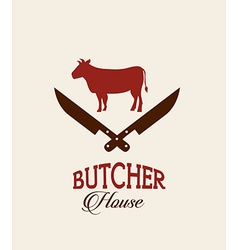 Butcher concept vector