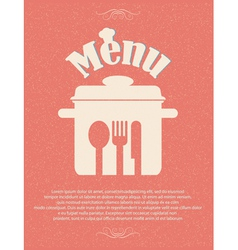 Restaurant menu retro poster vector