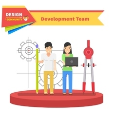 Development team people design flat vector