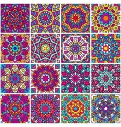 Set of ethnic patterns vector