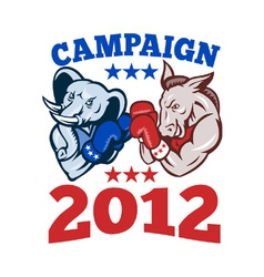Elephant donkey rep demo txt campaign 2012 eps10 vector