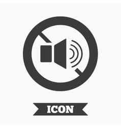 Speaker volume sign icon no sound symbol vector