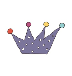 A view of crown vector image vector image