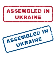 Assembled in ukraine rubber stamps vector