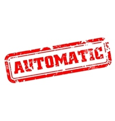 Automatic rubber stamp vector