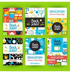 Back to school label greeting invitation set vector