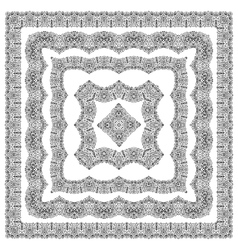 Border set on white background vector image