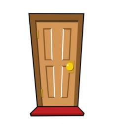 brown door vector image vector image