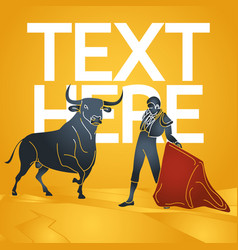 bull fighting icon vector image