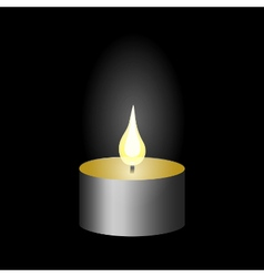 Burning candle candle flame vector