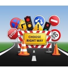 Choose Right Way Realistic Concept vector image vector image