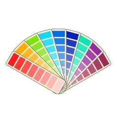 Color swatch icon cartoon style vector