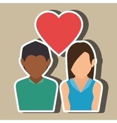 Couple love design vector