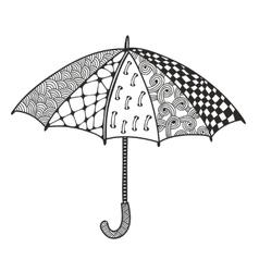 Doodle umbrella for coloring vector