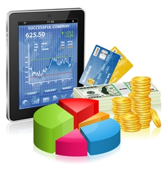 Financial Concept - Make Money on the Internet vector image vector image