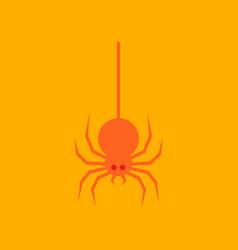 flat icon stylish background halloween spider vector image
