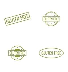 Gluten Free labels vector image