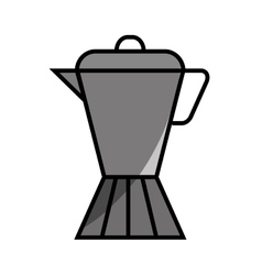 kettle coffee drink flat icon vector image vector image